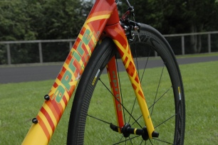 Custom carbon frame with custom paint
